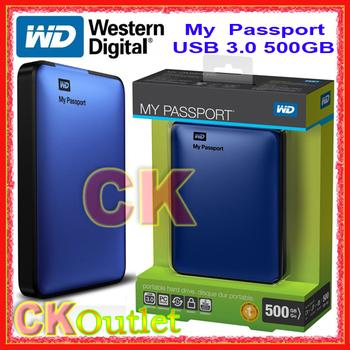 "NEW Western Digital (WD) My Passport 500GB USB3.0 WDBKXH5000ABL 2.5"" Portable External Hard Drive w/3 Year Warranty (Free Gift)"