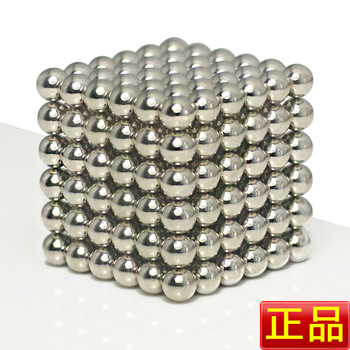 Free shipping 5mm Nickel Color Neocubes Magnetic Ball Buckyballs Round Tin Box Packing