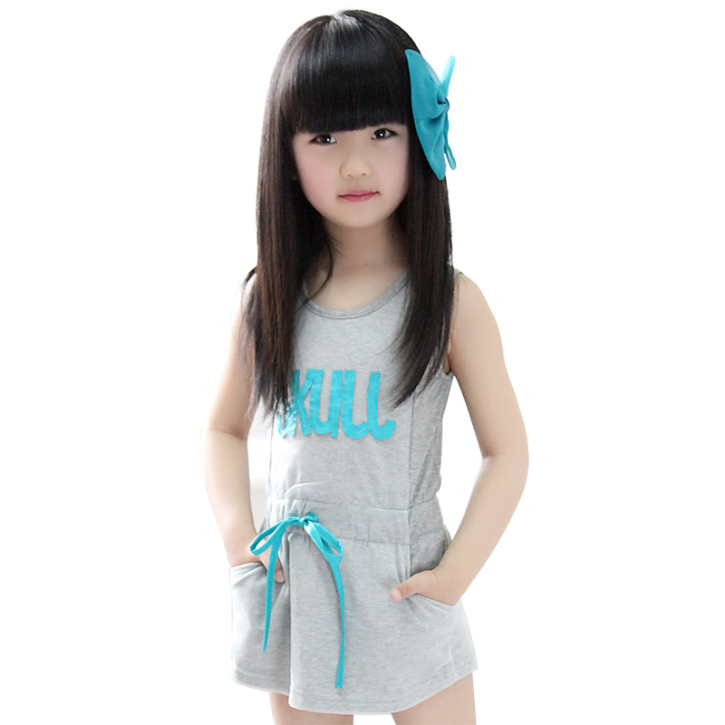 2013 summer children's clothing sports style female child t619 short-sleeve dress(China (Mainland))