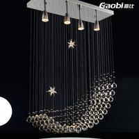 Lamps crystal lamp lighting fashion brief modern pendant light bedroom lamp living room lights hs7103-4b