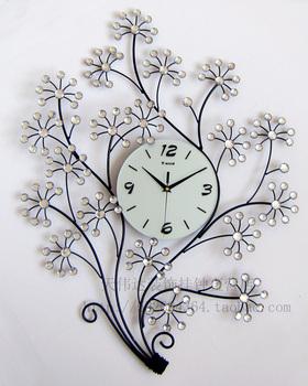 Wooden arch hammock fashion wall clock mute clock electronic clock decoration watch personalized tieyi