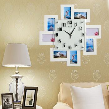Fashion wall clock art clock fashion pocket watch personalized clock fashion photo frame electronic mute clock