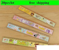 Free shipping (30 pieces/lot) Cartoon animal plastic ruler 20CM hot sell now Best Quality