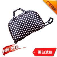 Waterproof trolley bag handbag polka dot trolley luggage bag travel bag large capacity 20 male Women
