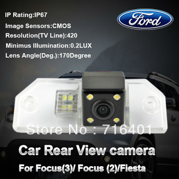 Free shipping! 170 degree Car Color CMOS car back camera for focus ford