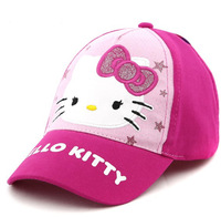 Fashion hello kitty embroid summer children's sun Visors hat,with brand,adjustable,wholesale