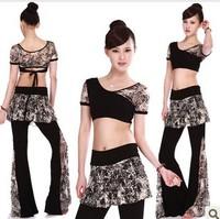 Yoga belly dance clothes 100% modal cotton set plus size loose x0
