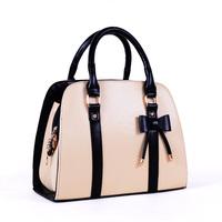 2013 women's bag color block fashion candy color women's handbag portable women's bow handbag