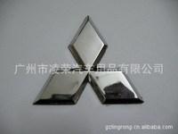 Mitsubishi plating standard (medium) Mitsubishi logo Mitsubishi silver car standard car standard plating