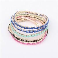 Factory Price 2013 New Arrival Fashion Bracelet Jewelry/All-match multilayer hit Color Bracelet