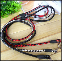 Hot Sale Popular Dog Lead Pet Accessories Pet Harness Leash 3 Colors Leather Weaving 120*1.2cm For Small Dogs