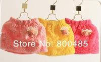 new arrival 2013 summer children crochet lace chrysanthemum short skirt toddler half waist skirt