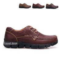 Fashion male casual shoes fashion popular men's full genuine leather big head shoe outdoor boots