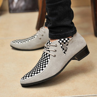2013 Spring Genuine Leather Male Skateboarding Male Shoes Trend Scrub Shoes