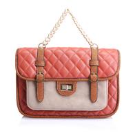 2014 women's small handbag chain plaid bag portable one shoulder cross-body women's handbag