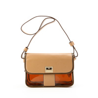 2012 candy color jelly bag trend transparent beach bag cross-body messenger bag coffee