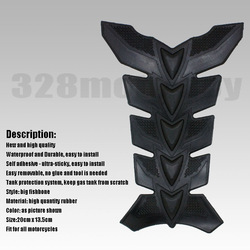 Black Motorcycle Polyester Resin Rubber Tank Pad Protector(China (Mainland))
