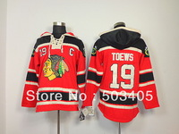 Black Hawks #19 TOEWS home red hoodie sweater