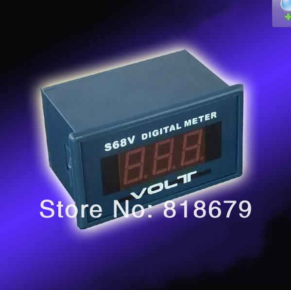 1pc new AC 0- 599V AC 559V digital display voltmeter Panel Meter Red 220V Power supply AC559V ,freeshipping(China (Mainland))