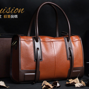 Fashion brand leather cowhide hand the bill of lading shoulder high-capacity lady handbags manufacturers selling(China (Mainland))