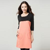 high quality plus size 4XL women clothing autumn winter Classic petal collar designer ladies dress Free Shipping LY120853