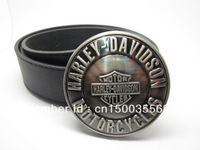 Brush finished Biker belt buckle with Free belt , Free shipping worldwide