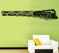 Free shipping !The Train  Wall  Decals Art  Mural  Home Decor Removable Vinyl Decal  Stickers N-45