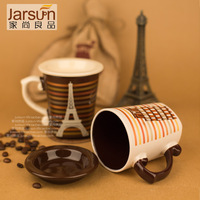 Free shipping Romantic mug Couple cup set ceramic coffee cup Water cup