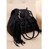 Fashion brief 2013 spring button tassel bag one shoulder cross-body handbag double-shoulder women's multi-purpose bag handbag