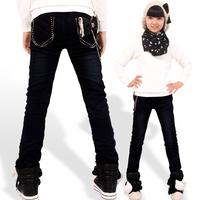 Ploughboys 2012 female big boy jeans female big boy denim trousers child plus cotton plus velvet 20013