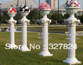 Special sell like hot cakes plastic decorative pillars Roman column wedding road lead  flower Roman column  pots height 90cm