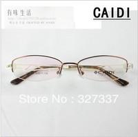 half rim male female super light metal alloy optical myopia glasses frame one sale promotion