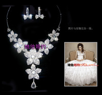 Flower the bride chain sets wedding jewellery accessories the bride accessories d24  earrings