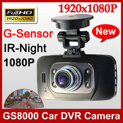 2013 New GS8000 Full HD 1920x1080P H.264 Car Camera Recorder 2.7 inch LCD G-Sensor HDMI 25FPS IR Night Vision dvr Free Shipping(China (Mainland))