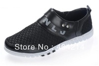 Fashionable Black Color Men's shoes Mesh Ventilate outdoor shoe Casual Leisure Sport Skateboard Shoes .