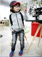 free shipping  2013 new best quality boy's coat Zipper hooded children wear