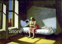 Edward Hopper Oil Painting Reproduction on Linen Canvas,summer in-the-city-1950,Free DHL Shipping,100%handmade,Museam Quality