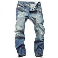 Free Shipping Leisure&Casual pants 2013 New Newly Style TOP brand cotton Men's Jeans Trousers Straight Leg size:28~40