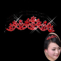 Bridal accessories hair accessory jewelry formal dress red quality alloy decoration accessories