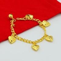 Wholesale new arrival 18K gold plated bracelet heart pendant baby peace bracelet free shipping a033