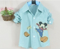 2013 Most hot Classical autumn boys long sleeve cartoon shirt children cotton top-grade quality for 3-6 years boys shirts