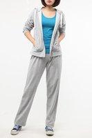 2013 Free Shipping Velvet Sports Casual hoodies sweatshirts Long Sleeve Plus Size women Hoodies & Pants Set TZ120520