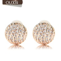 Austria crystal female earrings diamond no pierced fashion birthday gift girlfriend gifts