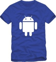 Free shipping Lovers Android robot t-shirt 100% cotton short-sleeve shirt men's women's clothing work wear overalls