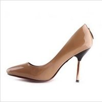 2013 Women's shoes shallow Mouth pointed toe high heels shoes PU uppers single shoes wholesale prices