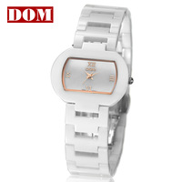 Ladies watch vintage personality dom waterproof ceramic fashion commercial women's watch ladies lovest white color gold hands