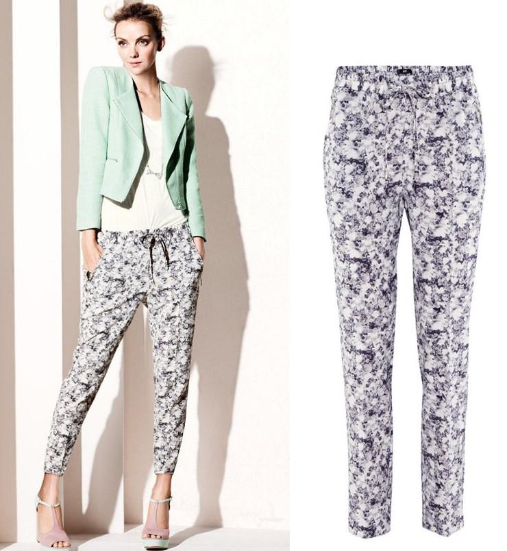 Flower Printed Pants Flower Print Pants Elegant