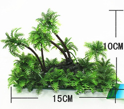 Artificial Plastic Plant for Aquarium Fish Tank Ornament Landscape Decoration 15cm L(China (Mainland))