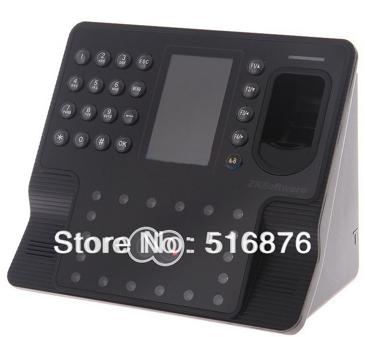Free shipping ZKsoftware iFace102 biometric identification time attendance face reader Finger access control system(China (Mainland))