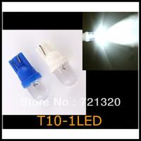 100 PCS, WHITE,T10 W5W BULBS 1 LED WHITE CAR DOME LIGHT 194 901 led car lamp led light